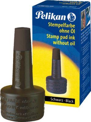 Pelikan Stempelfarbe, Verstreichflasche, 28 ml, ohne Öl, schwarz