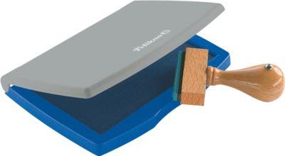 Pelikan Stempelkissen Typ Nr. 2, für Gummi- und Polymerstempel, Fläche 7 x 11 cm, blau