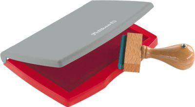 Pelikan Stempelkissen Typ Nr. 2, für Gummi- und Polymerstempel, Fläche 7 x 11 cm, rot