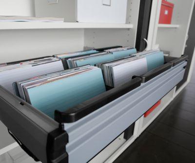 Pendelhechthangmappen-rails,voor roldeurkast, voor 800 mm breedte