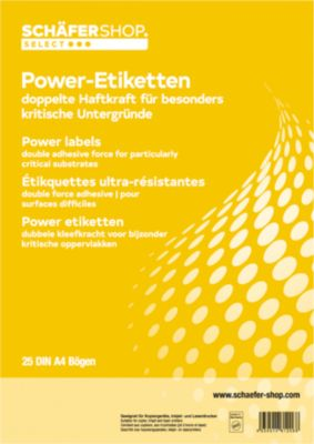 Permanente Power-etiketten 45,7 x 21,2 mm