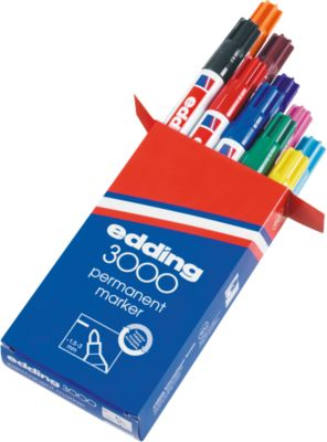 Permanentmarker edding 3000, farbsortiert