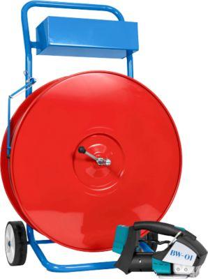 PET Set mit Akku-Umreifungsgerät und Abrollwagen, 13 mm