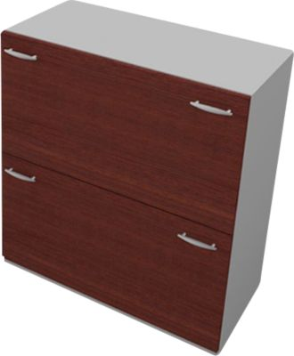 PHENOR hangmappenkast, 2 laden, b 860 x d 430 x h 860 mm, wengedecor