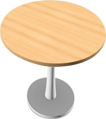 PHENOR vergadertafel, rond, H 740 x Ø 1200 mm, beukendecor