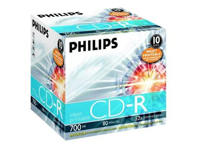 Philips - CD-R x 10 - 700 MB - Speichermedium