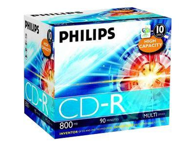Philips - CD-R x 10 - 800 MB - Speichermedium