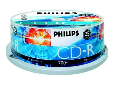 Philips - CD-R x 25 - 700 MB - Speichermedium