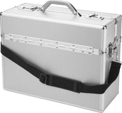 Pilotenkoffer ALUMAXX, met draaggreep, 1 vak, aluminium, zilver
