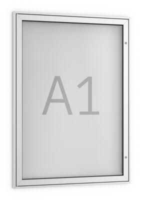 Plakat-Schaukasten, DIN A1, spitz, pulverbeschichtet