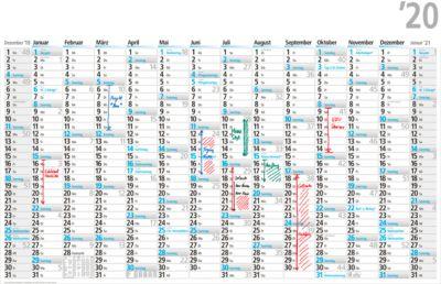 Plakatkalender, deutsch, 14 Monate