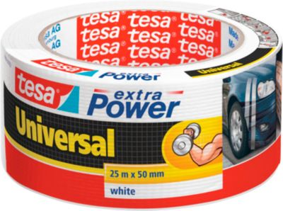 Plakband Tesa Extra Power 25m. Wit