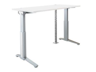 PLANOVA ERGOSTYLE Schreibtisch, elektr. höhenverstellbar B 1600 mm + Akzentset + Kabelschlange GRATIS, weiß