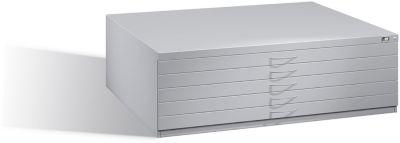 Planschrank aus Stahl, für Formate bis DIN A0, 5 Schubladen