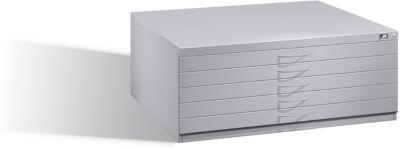 Planschrank aus Stahl, für Formate bis DIN A1, 5 Schubladen