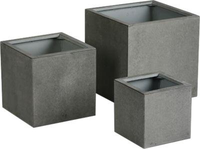 Plantenkuip Rockall, set van 3, verschillende maten, betonlook