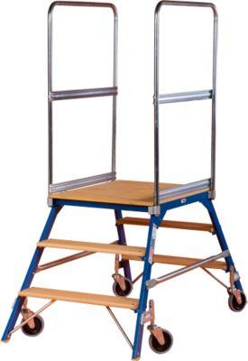 Platformladder, gr. 3, 2-zijdig, 40 kg