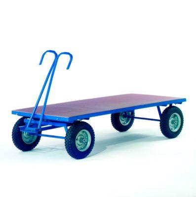 Platformvrachtwagen zonder platformhekken, massief rubberen wielen, 2500 x 1250 mm