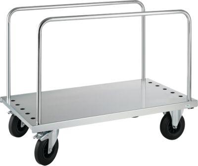 Plattenwagen mit 2 Einsteckbügeln, 1250 x 700 x 945 mm