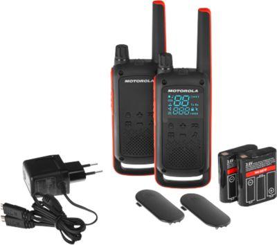 PMR-Funkgeräteset Motorola TALKABOUT T82, 2tlg, lizenzfrei, IPx2, 10 km, 16 Kanäle, schwarz/orange