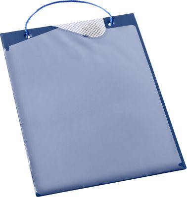 Pochettes A4 pr Planning Eichner + pince de fermeture  - bleu - 10 pièces