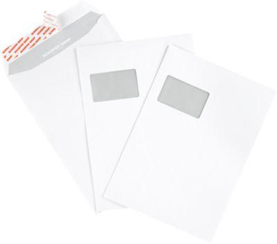Pochettes d'expédition C4, fenêtre, fermeture adhésive 120 g/m², paquet de 250