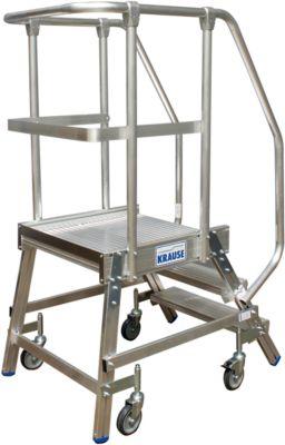 Podestleiter, fahrbar, einseitig, 3 Stufen