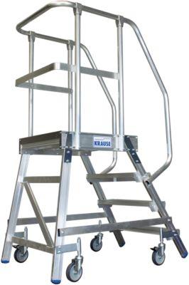Podestleiter, fahrbar, einseitig, 4 Stufen