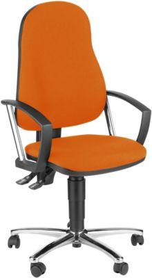 POINT 60 bureaustoel, permanentcontactmechanisme, met armleuningen, lendewervelsteun, kuipzitting, oranje
