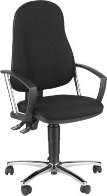POINT bureaustoel, met armleuningen, zwart