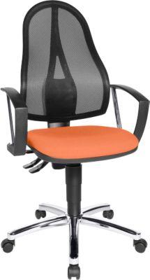 POINT NET bureaustoel, met armleuningen, oranje