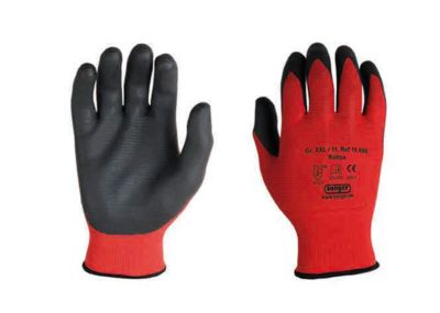 Polyester gebreide handschoen Rottex, nitrilpalmcoating, vloeistofdicht, 12 paar, maat L