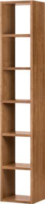 Pombal boekenkast, 6 OH, uitbreidbaar, B 400 x H 2240 mm, notenboom