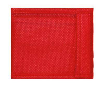 Portemonnaie, 100 % Polypropylen, Münzfach mit Reißverschluss, rot