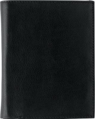 Portemonnaie SMUDO, schwarz, Echtleder, RFID Schutz, Werbedruck 1-farbig 50 x 35 mm
