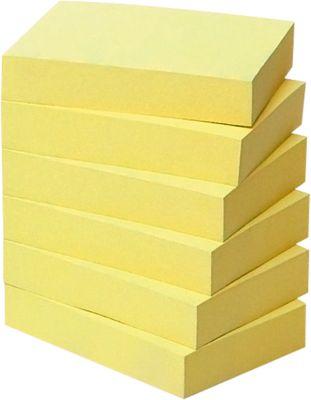Post- it® Gerecycleerde notes, geel,  51 x 38 mm, 6 blokken van 100 blaadjes, geel