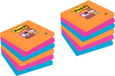 POST-IT Haftnotizen Super sticky,  76 mm x 76 mm, 9 Blöcke + 3 Blöcke GRATIS