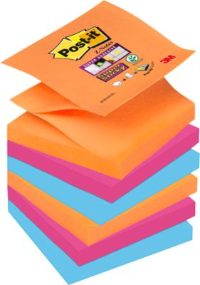 POST-IT Haftnotizen Super sticky Z-Notes, 76 mm x76 mm, farbig