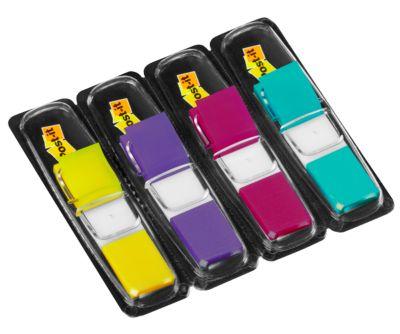 Post-it Index Streifen Mini 683-4AB, zitronengelb, lila, pink, türkis