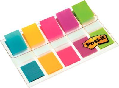 Post-it Index Streifen Mini 683-5, türkis, gelb, pink, lila, lemon