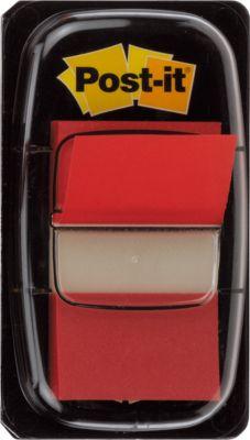 Post-it® markeerstroken index standaard, 680-1, rood, per dispenser van 50 indexes