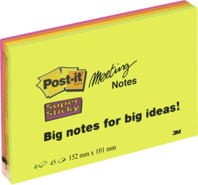 Post-it® Meetingnotes, 149 x 98,2 mm