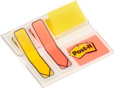 Post- it®  multipack: 2x index Pijlen 680 en 1x index standaard 684, geel/oranje, set