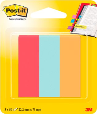 Post-it® Page Marker 671-PBO, 3 x 50 vel plakbriefjes, B 73 x H 22,2 mm