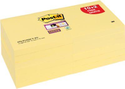 Post-it®  Super Sticky notes, 76 x 76 mm, 65412SYP,12 blokken