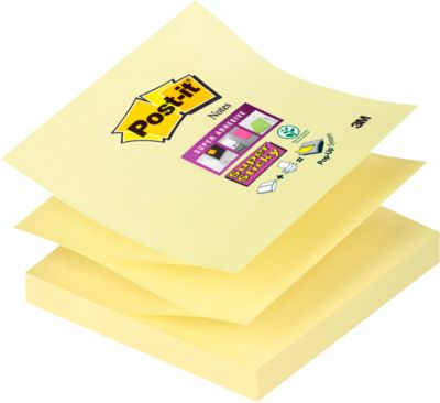 Post- it® Super Sticky Z- Notes, navulblokken, ref. R33012SY, 76 x 76 mm, geel, stuk
