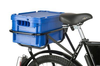 Postbox voor transportfiets, kunststof, zonder deksel, blauw