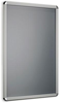 Posterwissellijsten met ronde hoeken, van zilver geëloxeerd aluminium profiel, A0