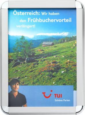 Posterwissellijsten met ronde hoeken, van zilver geëloxeerd aluminium profiel, A4
