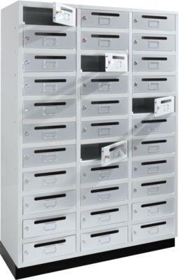 Postfach-/Verteiler-Schrank, 3x11 Fächer, lichtgrau